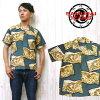 사무라이 진 즈 SAMURAI JEANS 알로하 셔츠 하와이안 셔츠 오픈 셔츠 레이 온 화 무늬 일본식 병풍 SSA15-01