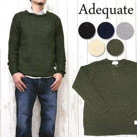Adequate アディクエート DOVETAIL SLICK ニット セーター ワッフル クルーネック アディクエイト 7183301