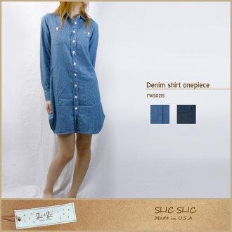SLIC SLIC スリックスリック 牛仔布衬衫连衣裙