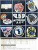 AVIREX 아비렉스아비렉스미리타리 반소매 셔츠 워크 코튼 헝겊 자수 「AAF SKY KINGS」AVI6165104