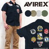 AVIREX アビレックス アヴィレックス 밀리터리 반 소매 셔츠 작업 면화 헝겊 자 「 AAF SKY KINGS 」 AVI6165104