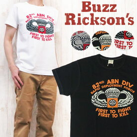 """バズリクソンズ Buzz Rickson's 半袖 プリント Tシャツ SLUB YARN TEE """"82nd AIRBORNE"""" br77261"""