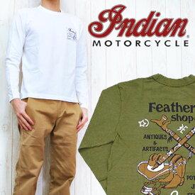 インディアンモーターサイクル Indian Motorcycle Tシャツ 長袖 プリント 「Feathers shop」 IM65213
