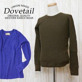 ダブテイル DOVETAIL シンプルワッフルニットUネックセーター