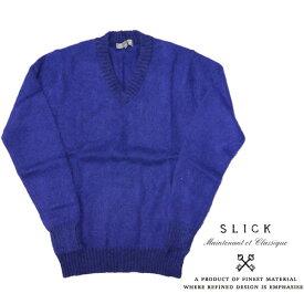 SLICK スリック ニット セーター Vネック ウール モヘア ナイロン 5164930