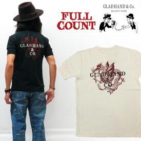 フルカウント × グラッドハンド FULLCOUNT GLAD HAND ヘンリーネック 半袖 Tシャツ DRAGON HIT