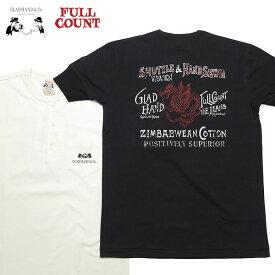 フルカウント × グラッドハンド FULLCOUNT GLAD HAND ヘンリーネック 半袖 Tシャツ DRAGON LABEL GHT-008 【2021年 春夏 新作】