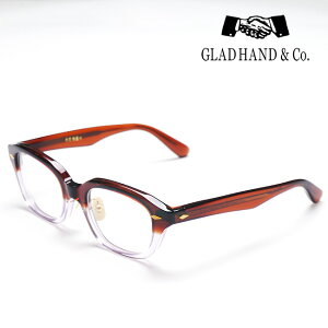 GLAD HAND 丹羽雅彦 サングラス <フレーム:ブラウン/クリア> <パーツ:ゴールド> セルロイド 眼鏡 J-IMMY GLASSES ORNAMENT グラッドハンド にわまさひこ 鯖江 眼鏡 ジミー オーナメント 【2021