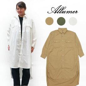 Allumer アリュメール 長袖 ワークドレス シャツ レディース 8170256