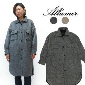 Allumer アリュメール 長袖 ビッグシャツ コート ジャケット レディース 8179253
