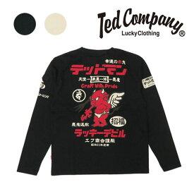 テッドマンズ TEDMAN'S 長袖 Tシャツ 抜染プリント TDLS-329 【2019年 秋冬 新作】