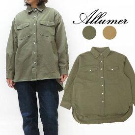 Allumer アリュメール ビッグ シャツ ジャケット レディース 8170308