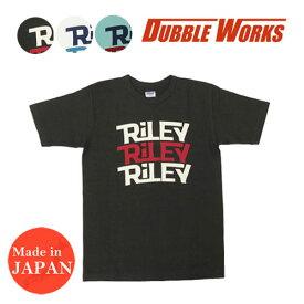 ダブルワークス DUBBLE WORKS ヘビーウェイト プリント 半袖 Tシャツ RILEY バインダーネック WW37001-05