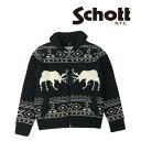 ショット Schott ジップボア カウチン セーター ニット ミリタリー F2048 46714 【2020年 秋冬 新作】