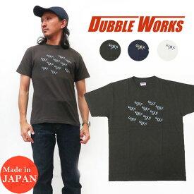 ダブルワークス DUBBLE WORKS 半袖 Tシャツ クルーネック ELEPHANTS RACE コットン WW33005-05