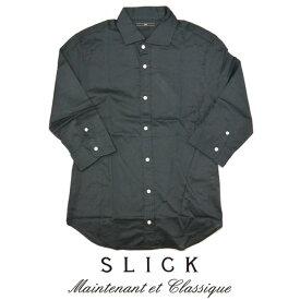 スリック SLICK シャツ 7分袖 無地 5167521