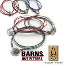 バーンズ BARNS ボタンワークス レザーブレスレット Wネーム BR-6272