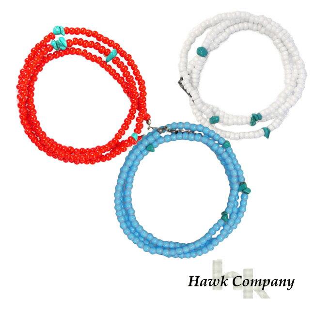 ホークカンパニー HAWK COMPANY 3WAY ビーズ アクセサリー ネックレス ブレスレット アンクレット 5603