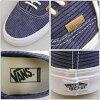 "VANS Authentic 롤빵 정통 CA California ""Washed Herringbone"" 블루 스 니 커 즈 신발 반스 VN-OZUIFQS"