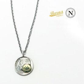 バーンズ BARNS × ノースワークス NORTH WORKS スマイル 10セントコイン ペンダント BR-7090b