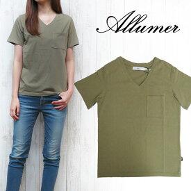 アリュメール Allumer Vネック Tシャツ amr8241807