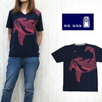 空的kuu KU斯拉夫女士V字领T恤KU49s