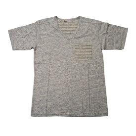 ダブテイル DOVETAIL Tシャツ 半袖 Vネック ボーダー ポケット