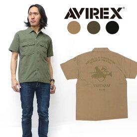 AVIREX アビレックス 半袖 シャツ BDU 刺繍 ミリタリー AVI6185104