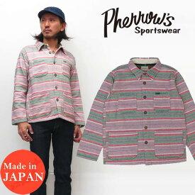 フェローズ Pherrow's 長袖 ボーダー シャツ ジャケット18W-PCOS2