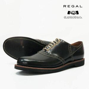 REGAL GLAD HAND リーガル グラッドハンド メンズ レザー サドルシューズ ブラック 紳士靴