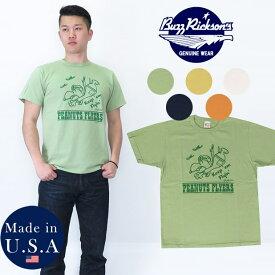 バズリクソンズ BUZZ RICKSON'S 半袖 Tシャツ ピーナッツ スヌーピー プリント MADE IN USA BR77846
