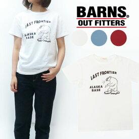 バーンズ BARNS レディース 半袖 プリント Tシャツ BR-7911F
