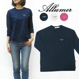 Allumer アリュメール 7分袖 プリント Tシャツ レディース 8141209