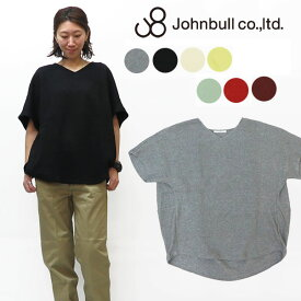 JOHNBULL ジョンブル レディース ダブル鹿の子 バルーン プルオーバー Tシャツ 半袖 無地 ZC460