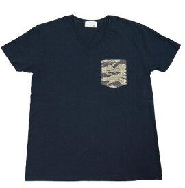 ダブテイル DOVETAIL 半袖 Tシャツ ポケット カモフラージュ メッシュ 迷彩 Vネック 天竺 728700514