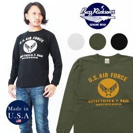 バズリクソンズ BUZZ RICKSON'S 長袖 Tシャツ U.S. AIR プリント MADE IN USA BR68077