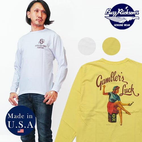 バズリクソンズ BUZZ RICKSON'S 長袖 Tシャツ ジル・エルブグレン GIL ELVGREN ピンナップガール MADE IN USA BR68083