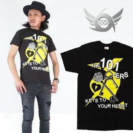 666 半袖Tシャツ 101ers ワンオーワナーズ ブラック トリプルシックス BT214
