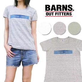 バーンズ BARNS Tシャツ 半袖 ベンベルグ コットン プリント 「GOOD TAKE」 BR-5939F レディースサイズ 【10P01Jun14】