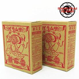 サムライジーンズ SAMURAI JEANS 雷石鹸 2箱セット 480グラム×2 ジーンズ用洗剤 天然素材 KAMINARI-480G