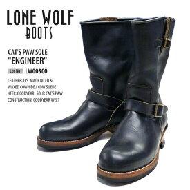 """LONEWOLF BOOTS ロンウルフブーツ エンジニアブーツ ブラックキャッツポウソールCAT'S PAW SOLE """"ENGINEER"""""""