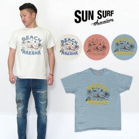SUNSURF サンサーフ ピーナッツコラボ スヌーピー 半袖 Tシャツ SS77971