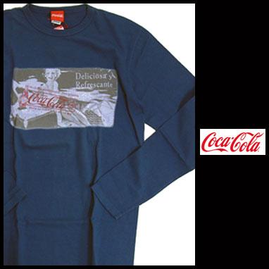COCACOLA コカコーラ オフィシャルプリント長袖Tシャツ