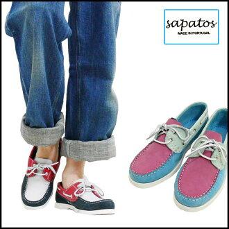 Sapatos サパトス マルチカラーヌバックデッキシューズポルトガル 제