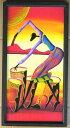 木彫り彫刻画☆アフリカン・アート≪60×30≫01