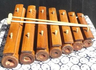 대나무 가멜란 7열쇠(죽금/장미 폰)