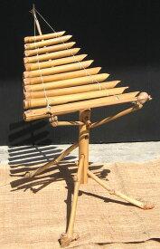 ベトナムの竹琴☆トルン(Trun)☆ミニ 〈トゥルン ベトナム楽器 卓上木琴 アジアン インテリア〉