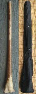 【ケース付き/ティモール ユーカリ ディジュリドゥー☆ナチュラルNo.06(C#)☆】 〈民族楽器 太古の金管楽器 木管楽器 アボリジニ オーストラリア ディジェリドゥー〉