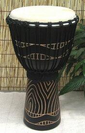 【送料無料】マホガニー木製ジャンベ(ジェンベ)☆木彫りMサイズ(MK)☆