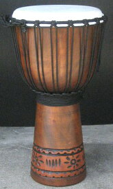 インドネシア・木製ジャンベ☆木彫りMサイズ(MC)☆